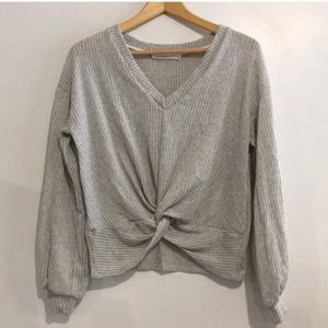 Grey Lush V neck Sweater